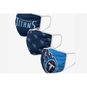 NFL Tennessee Titans Face Covering 3Pack
